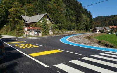 Obnova lokalne ceste Hotavlje – Suša, odsek Tesnar