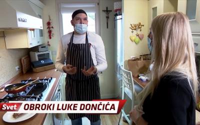 Kuhar iz Hotavelj kuha Luki Dončiću